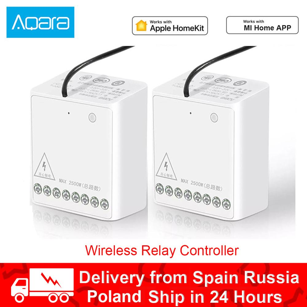 Original Aqara Relay Module Two-way Control Double Channels AC Motor Wireless Controller Smart Home For Xiaomi Mi Home
