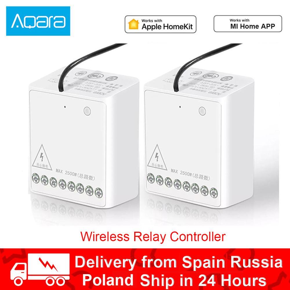 Xiaom Aqara Relay Module Two-way Control Double Channels AC Motor Wireless Controller Smart Home For Homekit Mi Home App Control