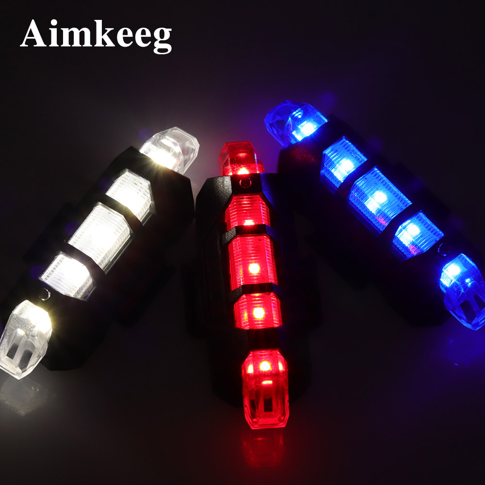 LED Emergency Light Strobe Warning Lights Outdoor Waterproof 4 Flash Modes USB Charging Portable Light For Car Safety Bicycle