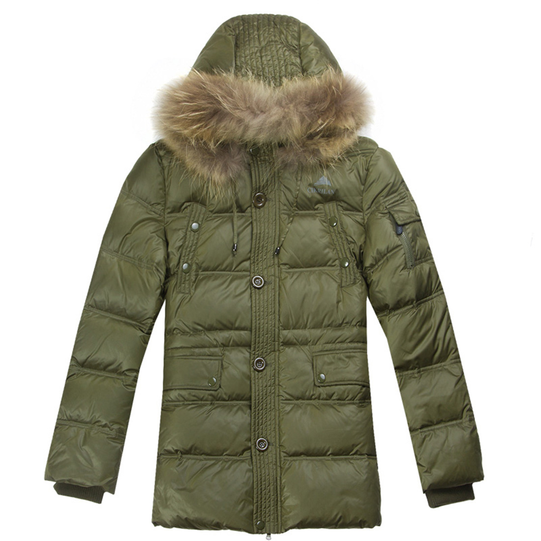 Men's Long Thick Fur Collar Down Parka Coat Winter Overcoat Outerwear Skiing Snow Jacket Hooded Coat Body Warm Outerwear