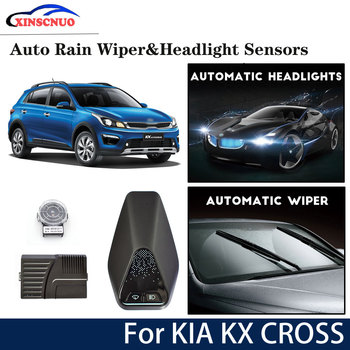 Car smart wiper and headlight sensor For KIA KX CROSS 2017 2018 2019 Automatic driving assistant System