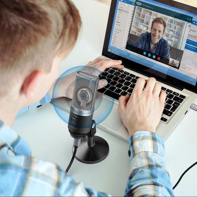 FIFINE USB Microphone for Mac laptop and Computers for Recording Streaming Twitch Voice overs Podcasting for Youtube Skype K670 2