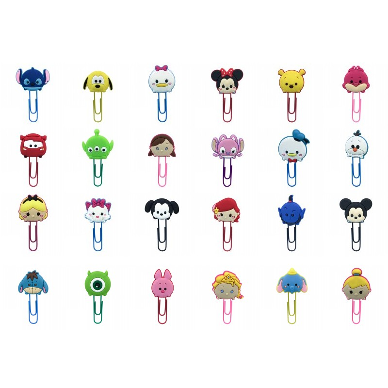100pcs Hot Cartoon PVC Bookmarks Cute Mickey Paper Clips Stationery Office Supply Page Holder For Teachers Student Kids Gift
