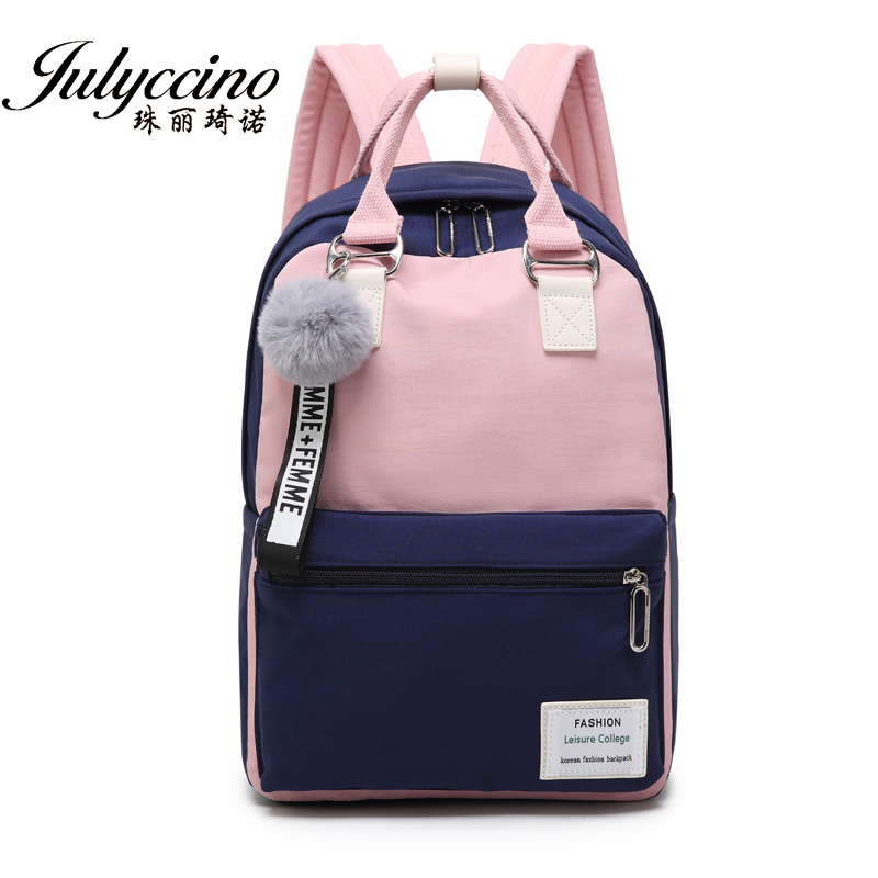 JULYCCINO Fashion Waterproof Nylon Backpack Women School Shoulder Bag Bagpack For Teenage Girls Female Travel Backpacks Mochila