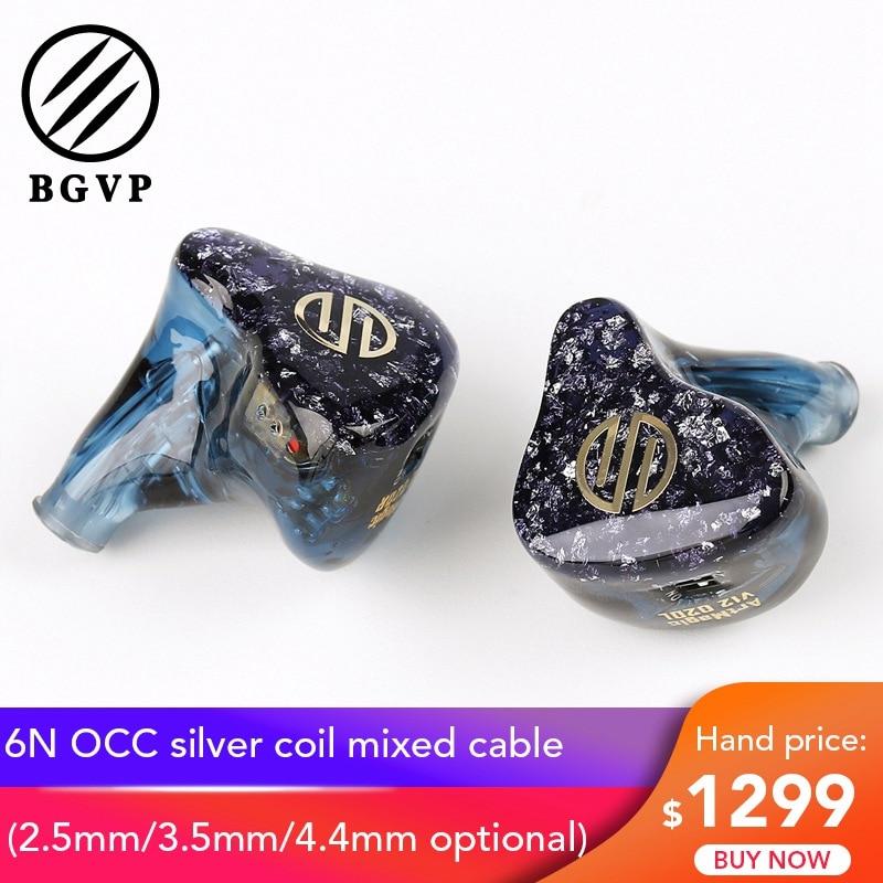 Date BGVP ArtMagic V12 personnaliser 12BA HiFi moniteur écouteur IEM dans l'oreille équilibré induit pilotes écouteurs avec 6N OCC câble