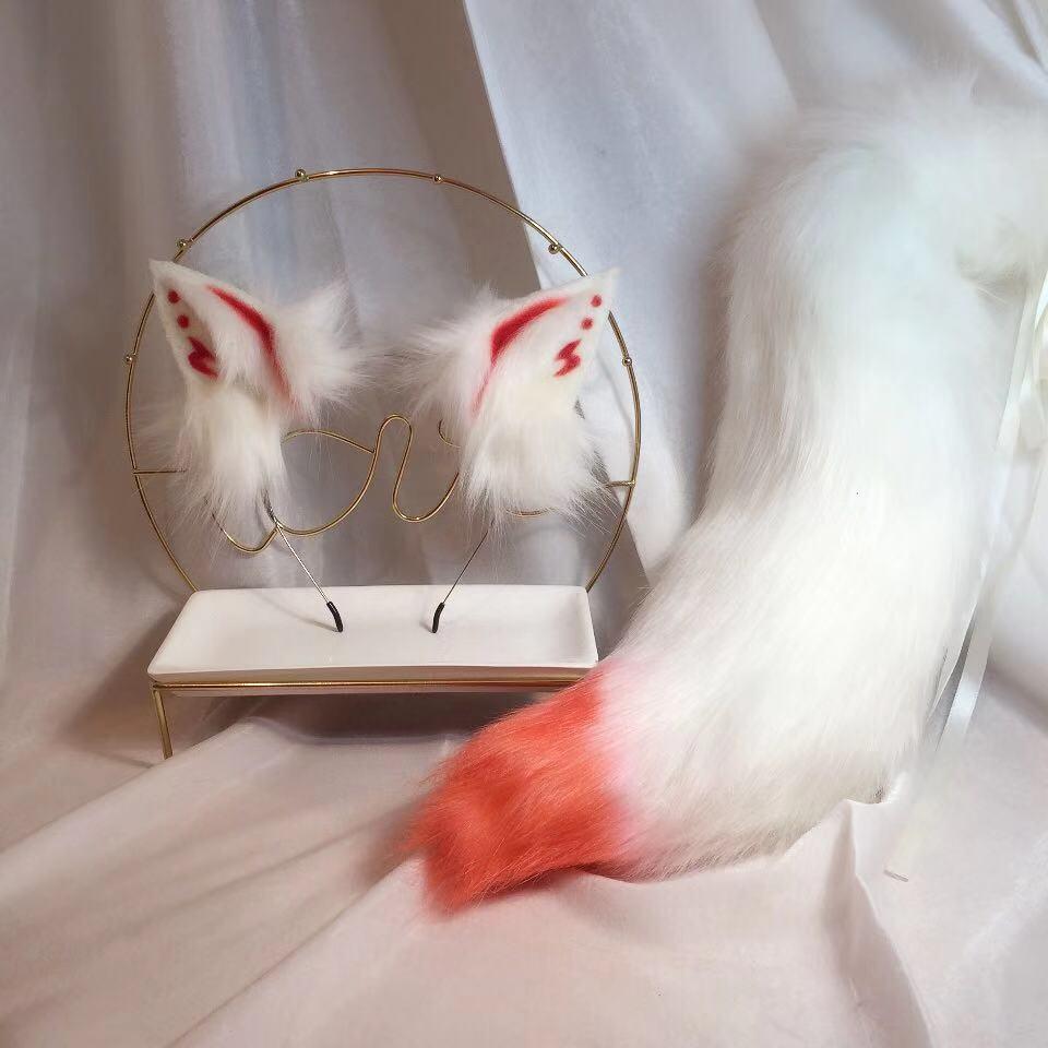 New Demon Fox Anime Beast Ear Beast Tail Wolf Ear Cat Ear Fox Ear Headband Custom COSPLAY