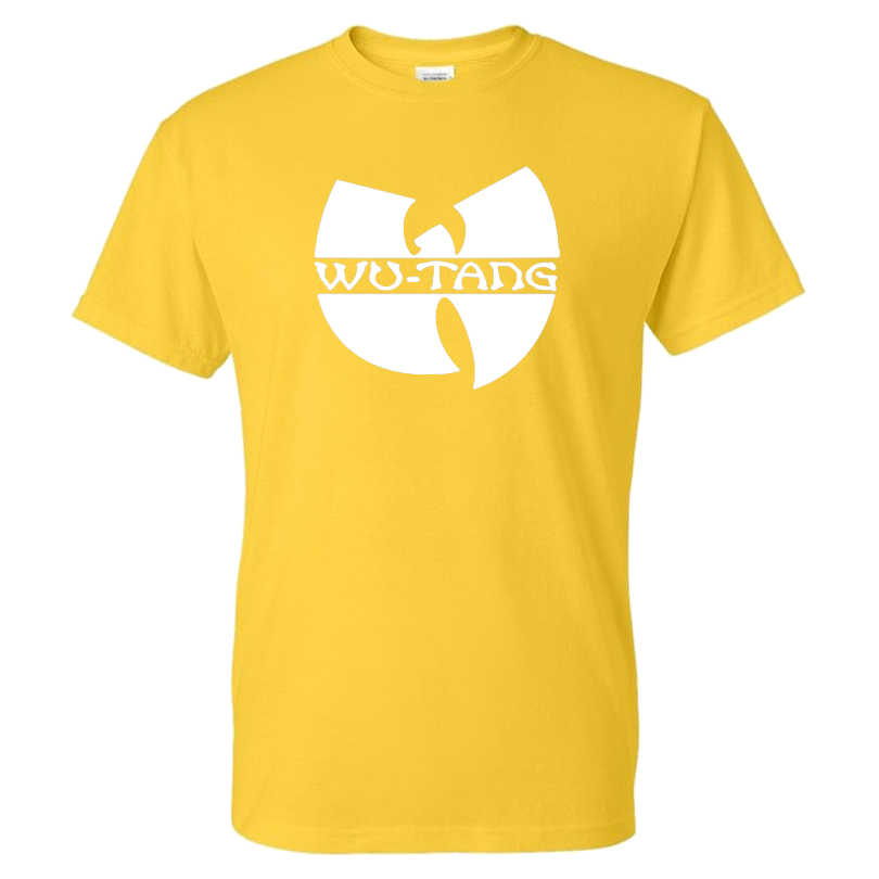 2020 Nieuwe Wu Tang Clan T-shirt Hip Hop Band Effen Kleur Afdrukken Streetwear Mannen Vrouwen Sport Casual T-shirt Katoen tees Tops Kleding