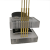 STM32 thimble test probe clamp debugging download program burn mass production STC tool 2.54mm gold plating