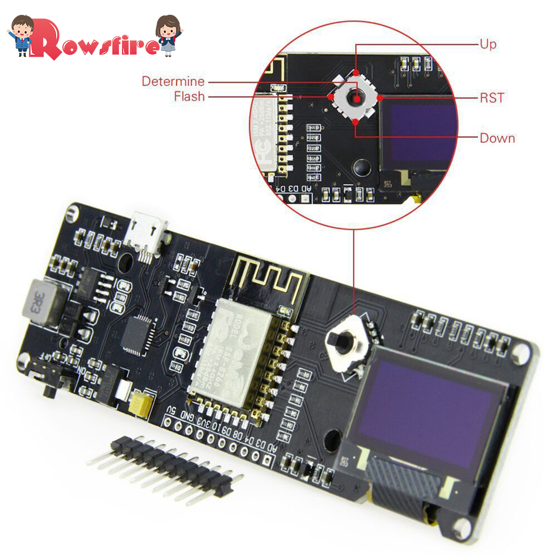 ESP8266 For NODEMCU With 0.96-Inch OLED Extension Temperature Humidity Development Board Meteorological Station Wifi For Arduino