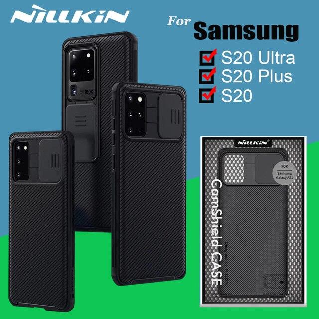 حافظة كاميرا NILLKIN CamShield حافظة لهاتف سامسونج جالاكسي S20 Plus S20 Ultra A51 حافظة حماية للخصوصية حافظة ظهر كلاسيكية