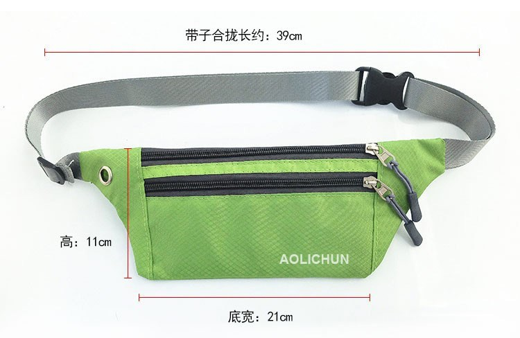 Ultra-Thin Sports Waist Pack Men And Women Outdoor Mobile Phone Bag Travel Portable Body Hugging Small Wallet Hiking Bag Leisure