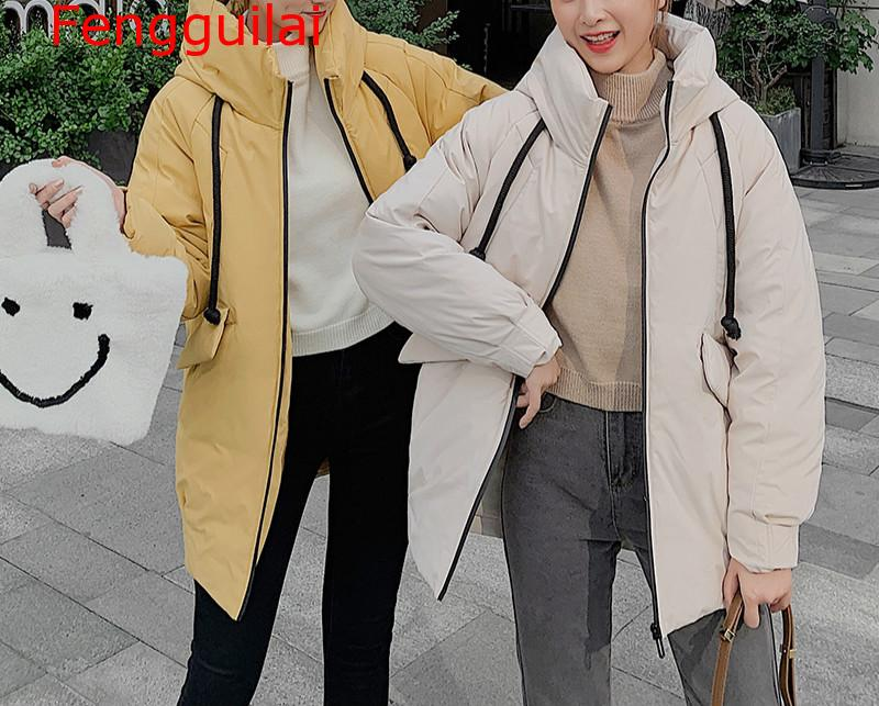 Femmes mode longues parkas 2019 hiver rembourré veste manteau dame loisirs style veste poche à capuche chaud manteau