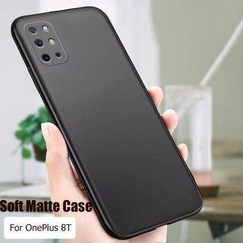 Per OnePlus 8T Caso Semplice Opaco Molle Del Silicone Della Copertura Posteriore Per One Plus 8T Cassa Del Telefono