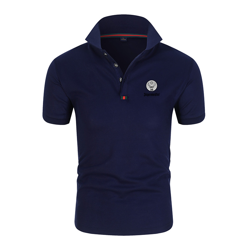 2020 <font><b>Men</b></font> Fashion Boutique Cotton Leisure Stand Collar Long Sleeve <font><b>Polo</b></font> <font><b>shirt</b></font> <font><b>Mens</b></font> Pure Color V-neck <font><b>Polo</b></font> <font><b>shirt</b></font> <font><b>Big</b></font> <font><b>Size</b></font> M-4XL image