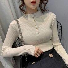 Camisola de manga comprida de manga comprida com decote em v camisola de manga comprida com decote em v