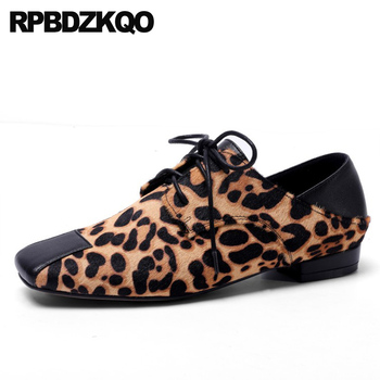 gray lace up ladies 2019 slip resistant square toe cheetah women flats designer shoes china spring autumn chinese leopard print