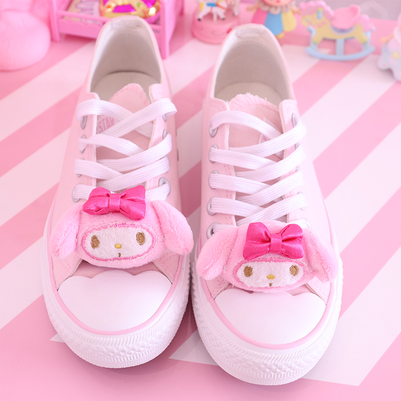 Cute My Melody and Cinnamoroll Shoes Plushie 1
