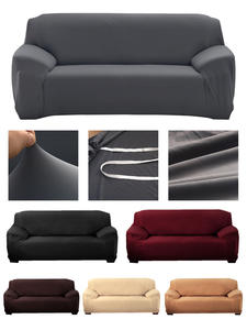 Slipcover Sofa Stretch Living-Room L-Shaped Solid-Color High-Elastic Super-Soft Sectional