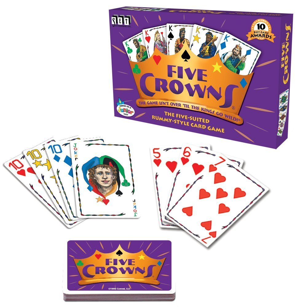 Five Crowns Card Game 5 Suites Classic Family Party Rummy Indoor Game ToyBirthday Xmas Gift More Fun Board Games In Games