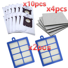 Ersatz taschen für Philips S Tasche H12 HEPA Filter für staubsauger Philips FC9150 FC9174 FC9010 FC9180 HR8310 taschen
