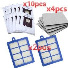 Sacs de rechange pour Philips S Bag H12 filtres HEPA pour aspirateur Philips FC9150 FC9174 FC9010 FC9180 HR8310 sacs