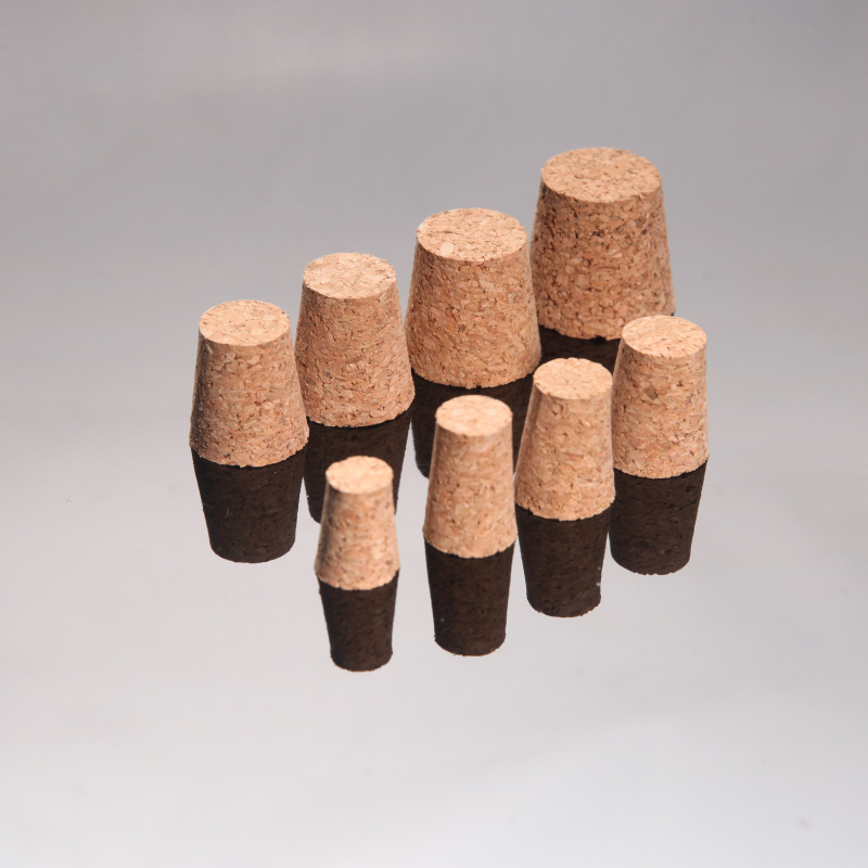 10pcs Top Dia. 15mm To 33mm Cork Stopper Wooden Plug Suit For Different Test Tubes