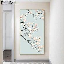 Китайская традиционная Картина на холсте с цветами лотоса и