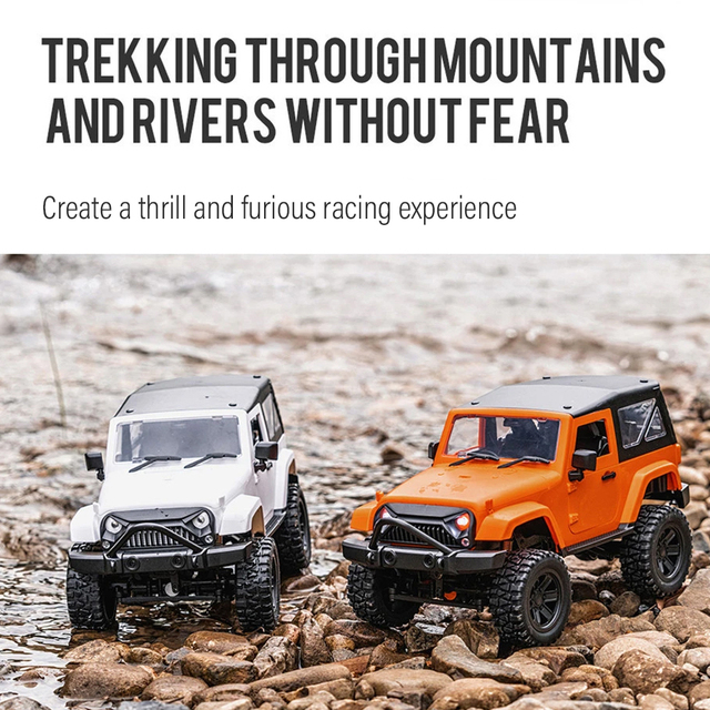 F2 RC Car 1/14 Scale Remote Control Truck Convertible 4WD 2.4GHz Off Road RC Trucks 30km/h High Speed Vehicle Crawler Toys Kid 4