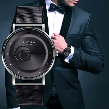 WJ-8070 New Style Round Hands Fashion Men Watch Mesh Belt Colorful Fancy Feature Business Male Wrist Watches relogios masculino - discount item  24% OFF Men's Watches