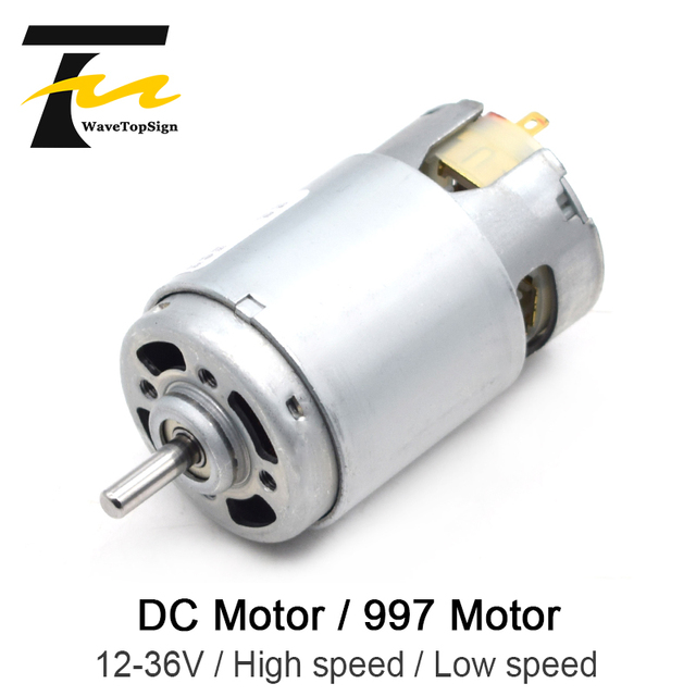 997 강력한 DC 모터 입력 전압 DC12 36V 고속 모터 자동 볼 베어링 모터