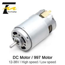 997 Powerful DC Motor Input Voltage DC12 36V High Speed Motor Silent Ball Bearing Motor