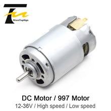 997 Motor DC potente tensión de entrada DC12-36V de Motor de velocidad silenciosa rodamiento Motor