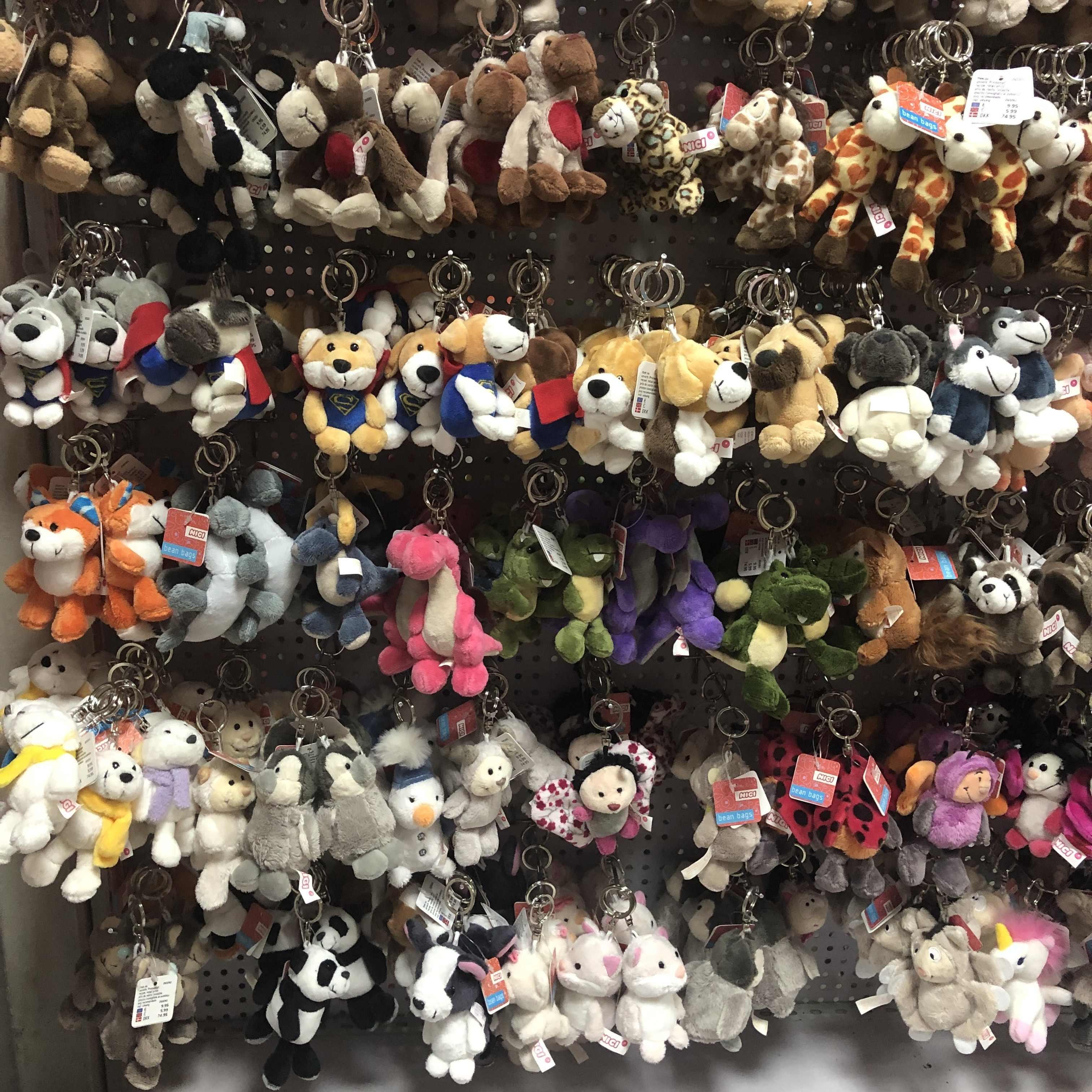 귀여운 만화 곰 코끼리 너구리 원숭이 동물 플러시 장난감 키 체인 배낭 가방 키 체인 상어 공룡 사자 오믈렛 귀여운 선물
