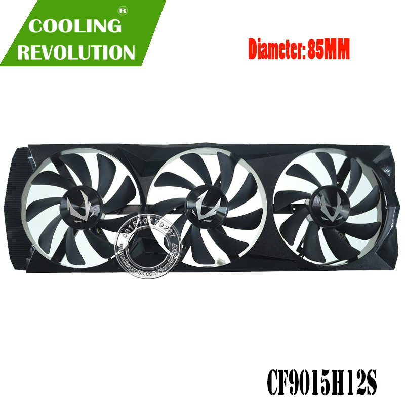 85MM CF9015H12S DC12V 0.40A 4PIN ventilateur de carte graphique pour ZOTAC ZT-T20610B-10P GeForce RTX 2060 SUPER 8GB image