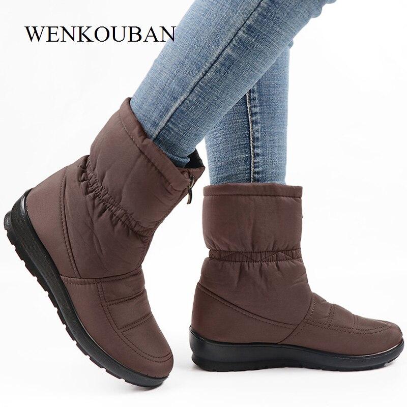 Waterproof-Snow-Boots-Women-Winter-Platform-Ankle-Boots-Ladies-Warm-Fur-Wedges-botines-Female-Front-Zip