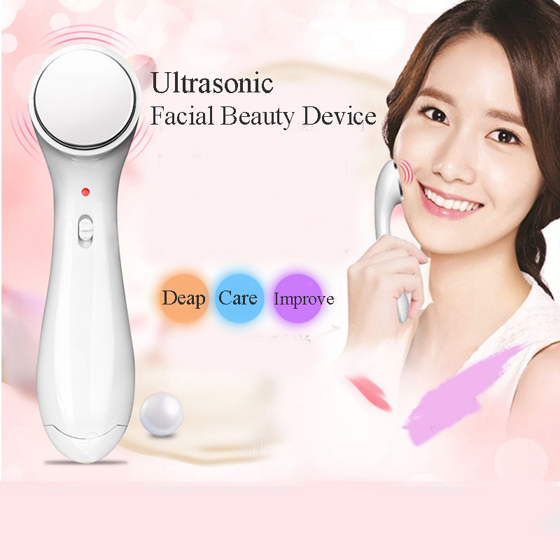 Electric Face Massager Anti-aging Machine High Frequency Ultrasonic Facial Beauty Device Ionic Face Cleaner Wrinkle Removal Tool