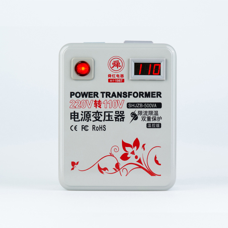 500VA power transformer <font><b>110V</b></font> transferred <font><b>to</b></font> <font><b>220V</b></font> and <font><b>220V</b></font> <font><b>to</b></font> <font><b>110V</b></font> optional AC voltage <font><b>converter</b></font> <font><b>500W</b></font> digital display LCD image