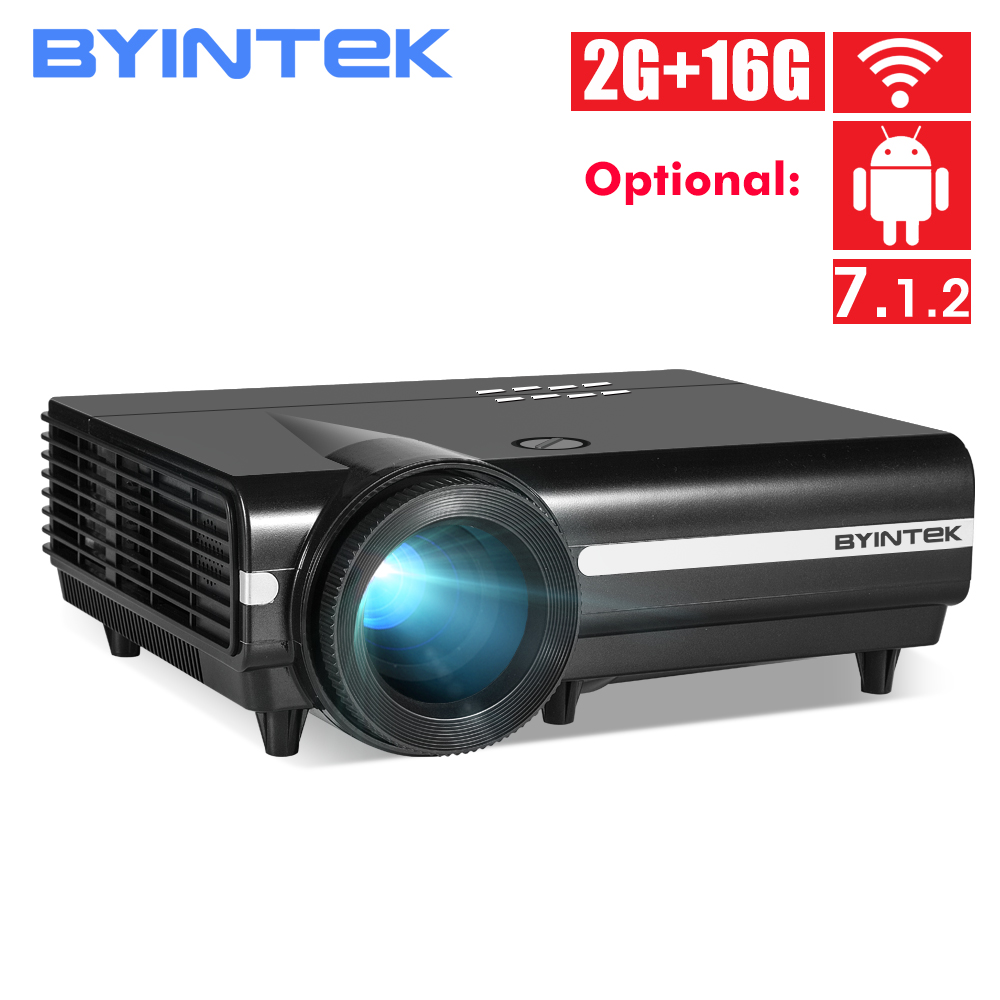BYINTEK MOON BT96Plus Hologram 200inch LED Video HD Projector For Home Theater Full HD 1080P  For Netflix