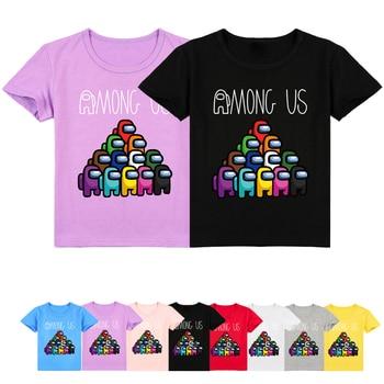 Among Us Funny Cartoon Kids T Shirt Boys Girls Amoung Us Cute Anime T-shirt Summer Casual T-shirt Streetwear Top Children 1
