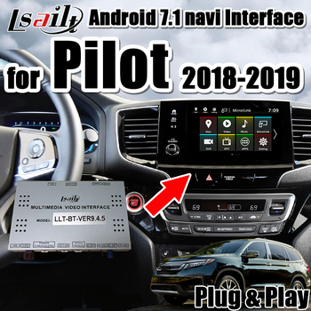 Android 7.1 multimedia video interface for 2018- 2019 Honda Pilot with google play , mirrorlink ,  carplay  interface