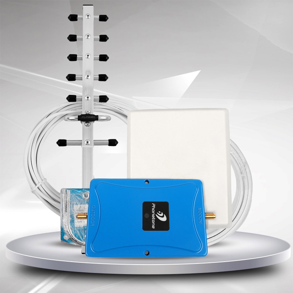 3G 4G LTE 1900MHz Band 2 Mobile Phone Signal Booster 1900 MHz Cell Repeater 70dB Amplifier &ALC/AGC for Home
