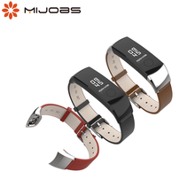 Mijobs Echtem Leder Strap für Huawei Honor Band 4 Armband armband Armband für Honor Band 5 Strap Armband Smart Zubehör