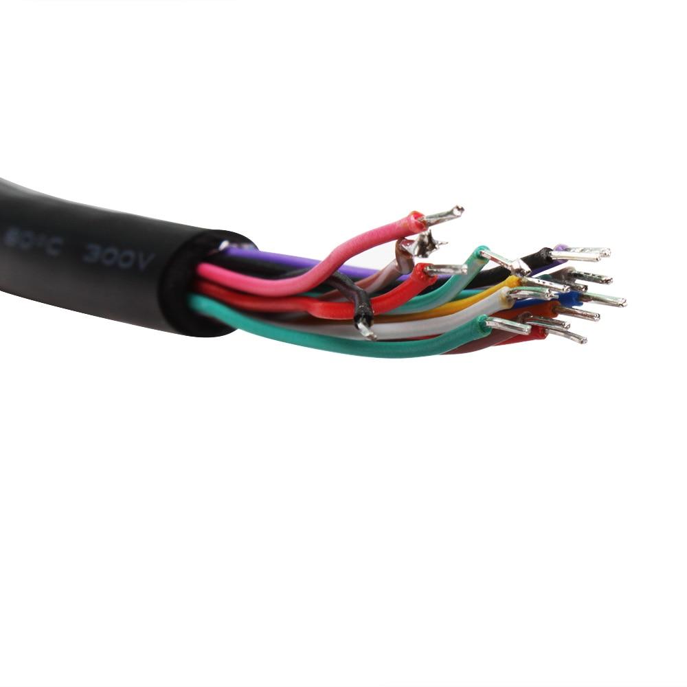Wholesale 5 pcs 16 Pins OBD2 Female Extension Open Cable OBD Female Converters OBD2 Opening Diagnostic Cable