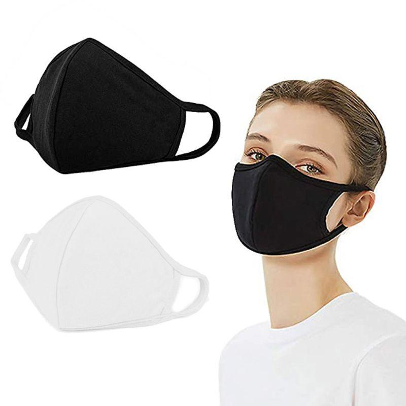 PM2.5 Filter Insert Reusable Cotton Mask Breathable Washable Dustproof Windproof Reusable Anti-Haze 3D Mouth Mask Adult