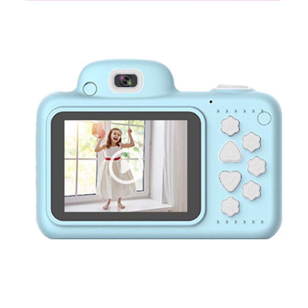 Gifts Mini Digital Camera 2.4 Inch Screen DSLR With Memory Card Video Dual Lens Cartoon Camcorder Shockproof Kids Toys ABS