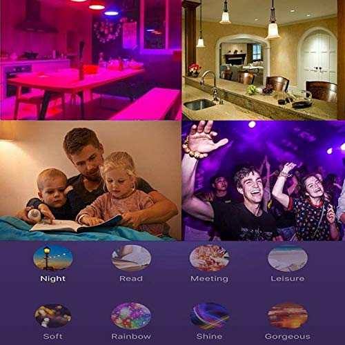 Smart WiFi E27 Dimmable RGBW Led Bulb Light Voice Control by Alexa Echo Google Home 2 4G WiFi Control by Tuya Smartlife APP in LED Bulbs Tubes from Lights Lighting
