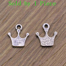 Sales Retail 1 Piece 10x13mm Crown Charms Charms Gifts For Men(China)