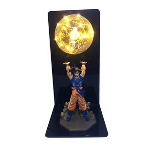 Image 3 - Actions Figure Dragon Ball Room Decorative Lamp Son Goku Super Saiyan Figures Led Light Goku Figure DBZ Led Bulb Table Light