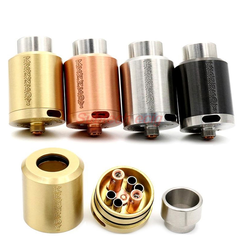 High Quality Kennedy 24 RDA Rebuildable Dripping Atomizer Tank 2 Post Adjust Airflow 24mm Fit 510 Thread Mechanical Mod