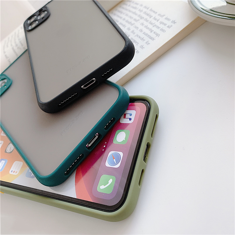 Matte Translucent Camera Protection Bumper Phone Cases For iPhone 11 11 Pro Max XR XS 5